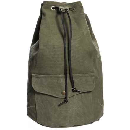 Filson Washed Canvas 13L Cinch Backpack in Otter Green - Closeouts