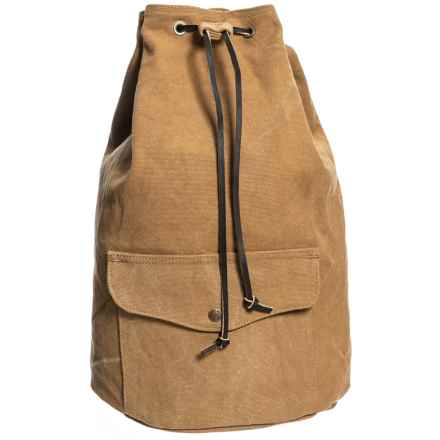 Filson Washed Canvas 13L Cinch Backpack in Tan - Closeouts