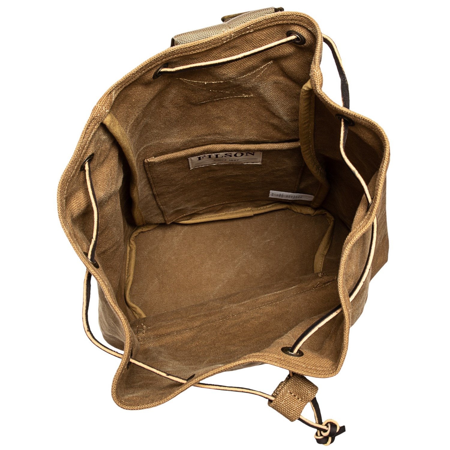 f274e4bff6 Filson Washed Canvas 13L Cinch Backpack - Save 43%