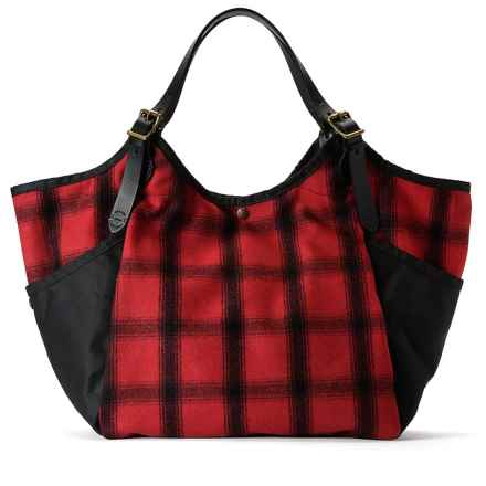 Filson Whidbey Carry-All Tote Bag in Red Black - Closeouts