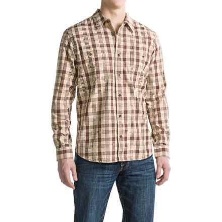 Filson Wildwood Shirt - Long Sleeve (For Men and Big Men) in Light Desert Tan/Old Brick - Closeouts