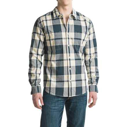 Filson Wildwood Shirt - Long Sleeve (For Men and Big Men) in Navy/Cream - Closeouts