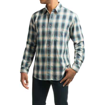 Filson Wildwood Shirt - Long Sleeve (For Men) in Blue/Gray - Closeouts