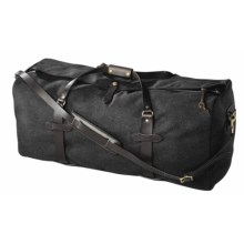 Filson Wool Duffel Bag - Large (For Men) in Charcoal - Closeouts