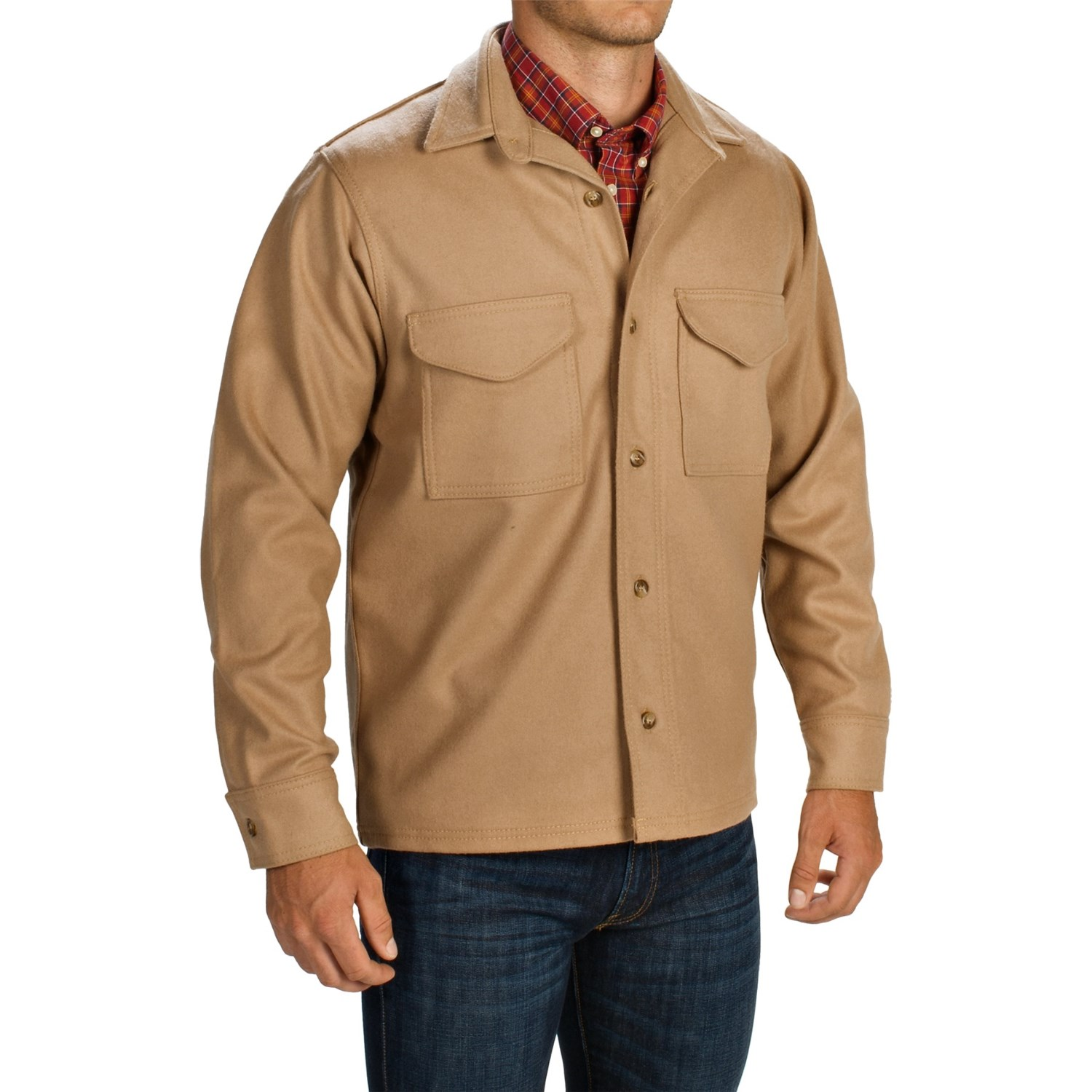 filson wool shirt jacket for big and tall men save 66