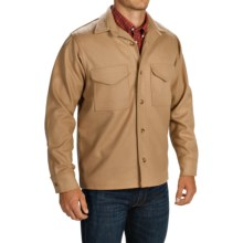 Filson Wool Shirt Jacket - Long Sleeve (For Big and Tall Men) in Camel - Closeouts