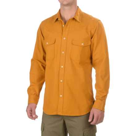 Filson Yukon Chamois Shirt - Long Sleeve (For Men and Big Men) in All Spice - Closeouts