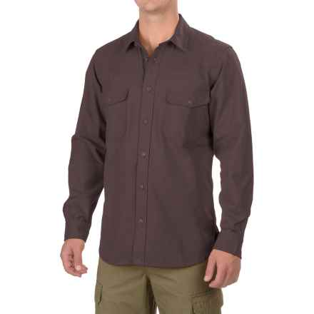 Filson Yukon Chamois Shirt - Long Sleeve (For Men and Big Men) in Cocoa Brown - Closeouts
