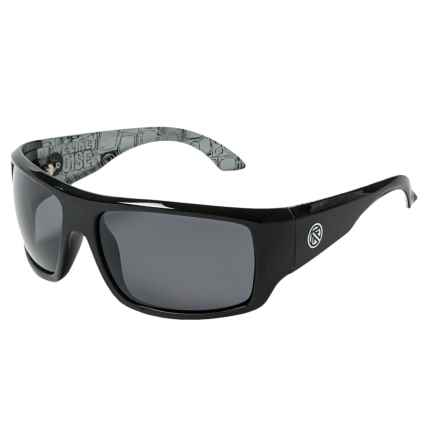 Filtrate Trader One Sport Wrap Sunglasses - Polarized in Black Noise Gloss - Overstock