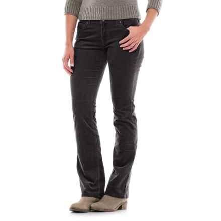 Fine-Wale Bootcut Corduroy Pants (For Women) in Black - 2nds