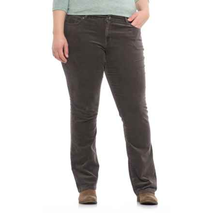Fine-Wale Bootcut Corduroy Pants (For Women) in Dove Grey - 2nds