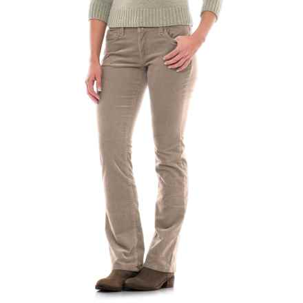 Fine-Wale Bootcut Corduroy Pants (For Women) in Khaki - 2nds