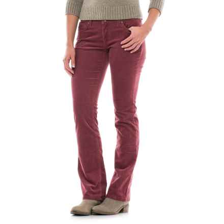 Fine-Wale Bootcut Corduroy Pants (For Women) in Mulberry - 2nds