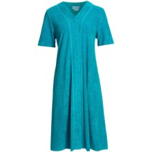 Fini Moore by Rosch Terry Robe - Short Sleeve (For Women) in Dark Turquoise - Closeouts