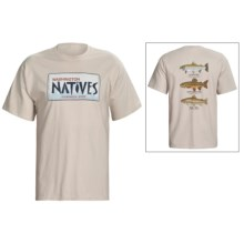 Fintastic Tees Natives T-Shirt - Cotton, Short Sleeve (For Men) in Washington - Closeouts