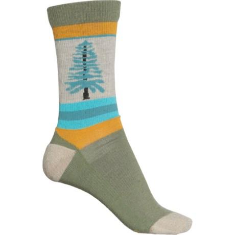 Fir Tree Casual Socks - Merino Wool, Crew (For Women) - OLIVINE (L ) -  Keen