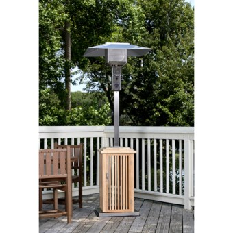 Fire Sense Wood Patio Heater - Stainless Steel in See Photo