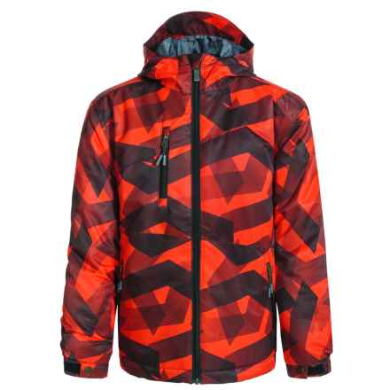 Firefly Cale Ski Jacket - Waterproof, Insulated (For Big Boys) in Orange Zig Zag - Closeouts