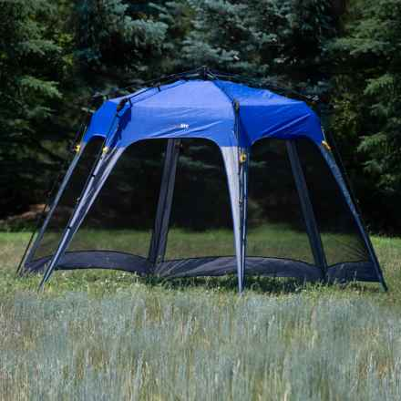 Firelite Ripcord Large Pop-Up Canopy Shelter - UPF 50 in Blue - Closeouts