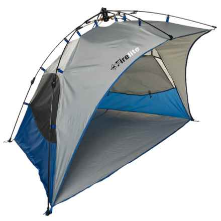 "Firelite Ripcord Pop-Up Sun Shelter - 95x57x51"", UPF 50 in Blue - Closeouts"