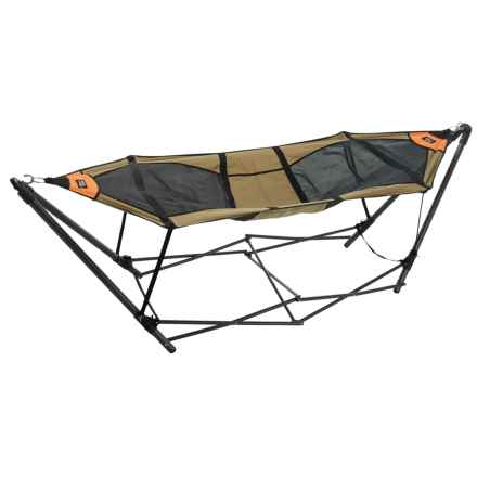 Firelite Stowaway Hammock with Stand in Green - Closeouts