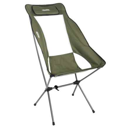 Firelite Ultra-Lightweight High Back Chair in Green - Closeouts