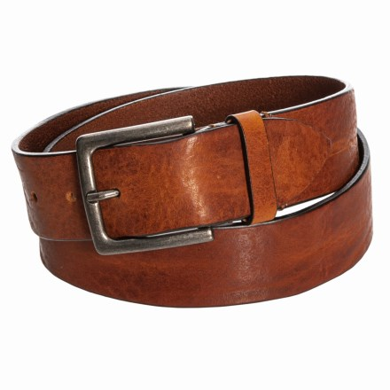 341f4d4ed6830 Firenze - Made in Italy Leather Burnish Belt (For Men) in Cognac - Closeouts
