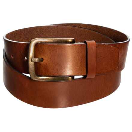 Firenze - Made in Italy Leather Jean Belt (For Men) in Cognac - Closeouts