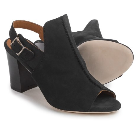 Firenze - Made in Italy Made in Italy Studio Tango Slingback Shoes - Leather, Open Toe (For Women) in Black