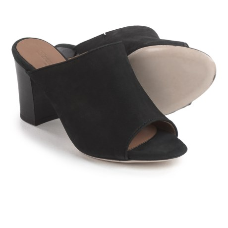 Firenze - Made in Italy Made in Italy Teri Mule Shoes - Leather, Open Toe (For Women) in Black