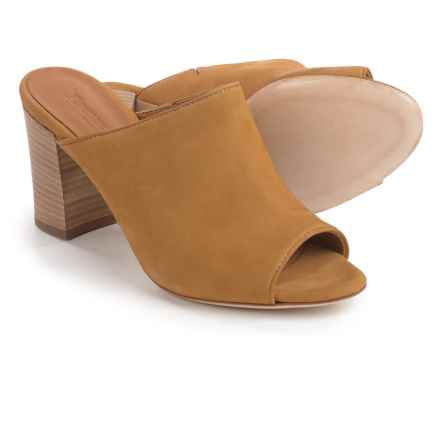 Firenze - Made in Italy Made in Italy Teri Mule Shoes - Leather, Open Toe (For Women) in Mustard - Closeouts