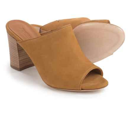 Firenze.Studio Teri Mule Shoes - Leather, Open Toe (For Women) in Mustard - Closeouts
