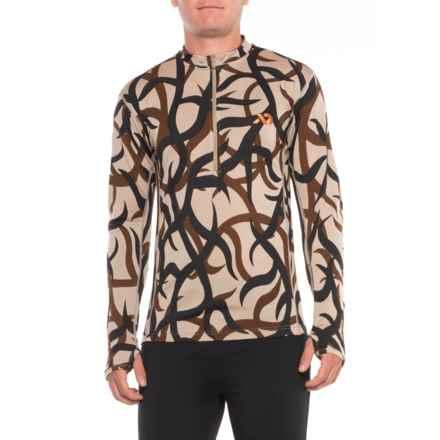 First Lite Llano Lightweight Shirt - Merino Wool, Zip Neck, Long Sleeve (For Men) in Asat Camo - Closeouts