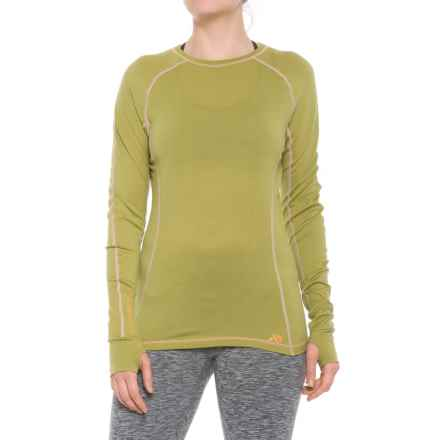 First Lite Lupine T-Shirt - Crew Neck, Long Sleeve (For Women) in Golden - Closeouts