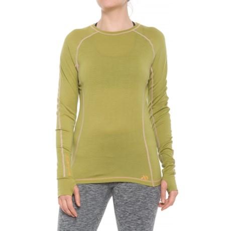 First Lite Lupine T-Shirt - Crew Neck, Long Sleeve (For Women) in Golden