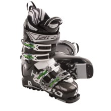 Fischer Hybrid 12 Plus Ski Boots (For Men and Women) in Black/Black - Closeouts