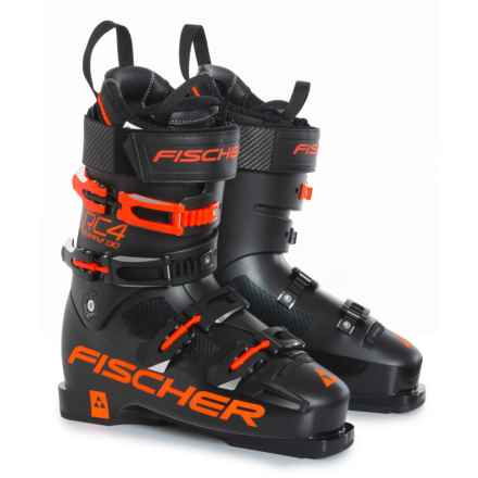 Fischer RC4 The Curv 130 Ski Boots (For Men) in Red/Black - Closeouts
