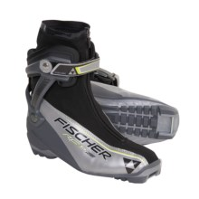 Fischer RC5 Combi Nordic Ski Boots - NNN (For Men and Women) in Silver/Black/Yellow - Closeouts