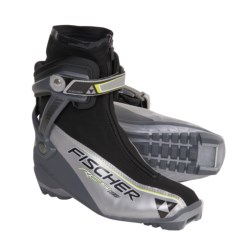 Fischer RC5 Combi Nordic Ski Boots - NNN (For Men and Women) in Silver/Black/Yellow