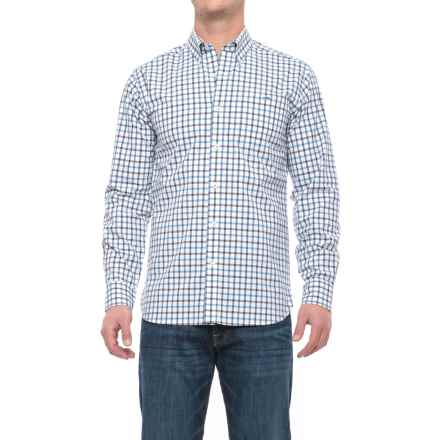 Fish Hippie Avery Plaid Shirt - Long Sleeve (For Men) in Marshland Teal Plaid - Closeouts