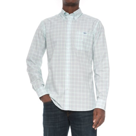 Fish Hippie Haywood Tattersall Shirt - Long Sleeve (For Men) in Clearwater/Periwinkle