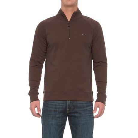 Fish Hippie Rye Creek Sweater - Zip Neck (For Men) in Coffee Bean