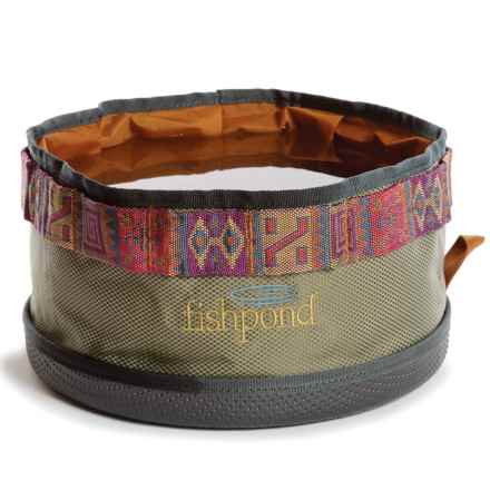 Fishpond Bow Wow Travel Water Bowl in Sand - Closeouts