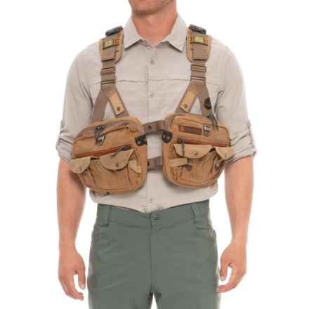 Fishpond Vaquero Tech Pack Vest - Waxed Cotton in Earth - Closeouts