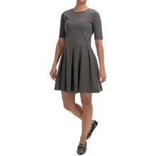 Fit & Flare Dress - Short Sleeve (For Women) in Heather Grey - 2nds