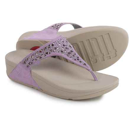 FitFlop Carmel Toe-Post Sandals - Suede (For Women) in Plum Thistle - Closeouts