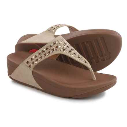 FitFlop Carmel Toe-Post Sandals - Suede (For Women) in Rose Gold - Closeouts