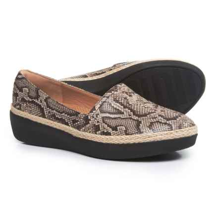 FitFlop Casa Leather Loafers (For Women) in Taupe Snake - Closeouts