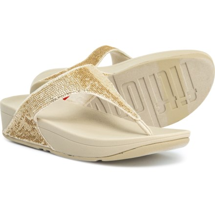 fa4f39809 FitFlop Electra Micro Flip-Flops (For Women) in Pale Gold