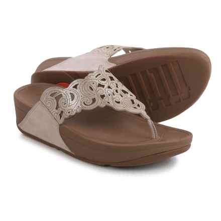 FitFlop Flora Sandals - Suede (For Women) in Nude - Closeouts